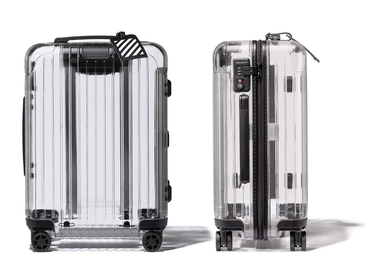 好想要啊!RIMOWA x Off-White 全透明行李箱,Virgil Abloh 設計聯名系列就是潮!