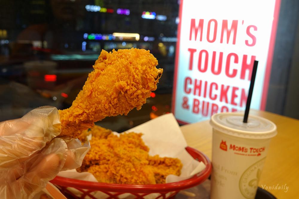 首爾美食 | MoM'S TOUCH 맘스터치 韓國炸雞漢堡,第二大速食店美味不退流行