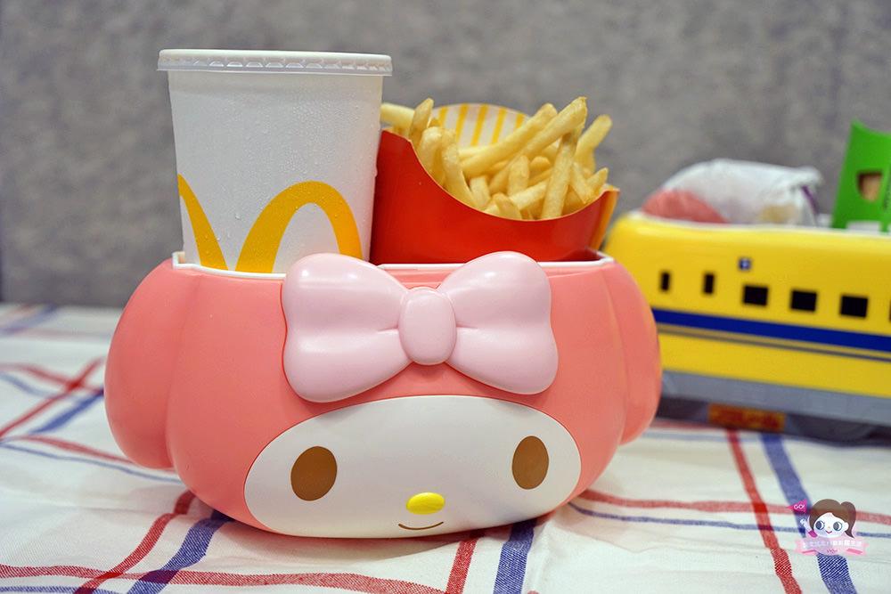 日本麥當勞美樂蒂 & Doctor yellow 限量提籃,飲品薯條方便筒卡哇依又實用!