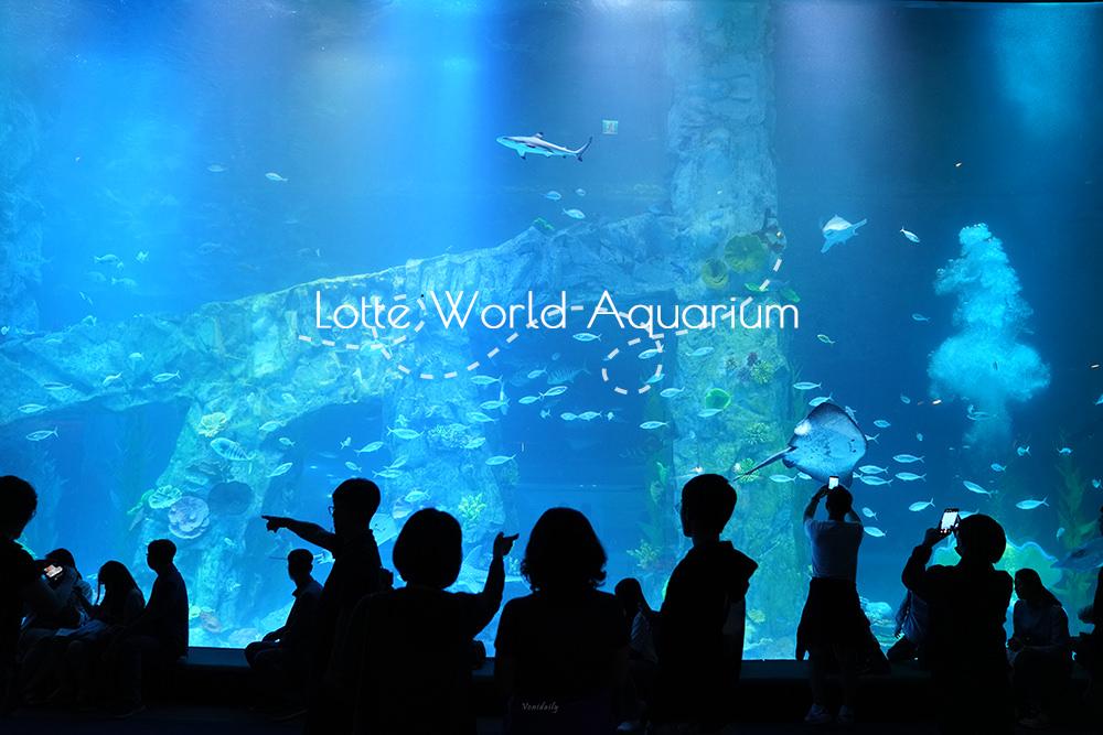 首爾.景點 | 樂天世界水族館 LOTTE World Aquarium,海底隧道、小白鯨、電子魚,親子旅、壞天氣必備口袋名單