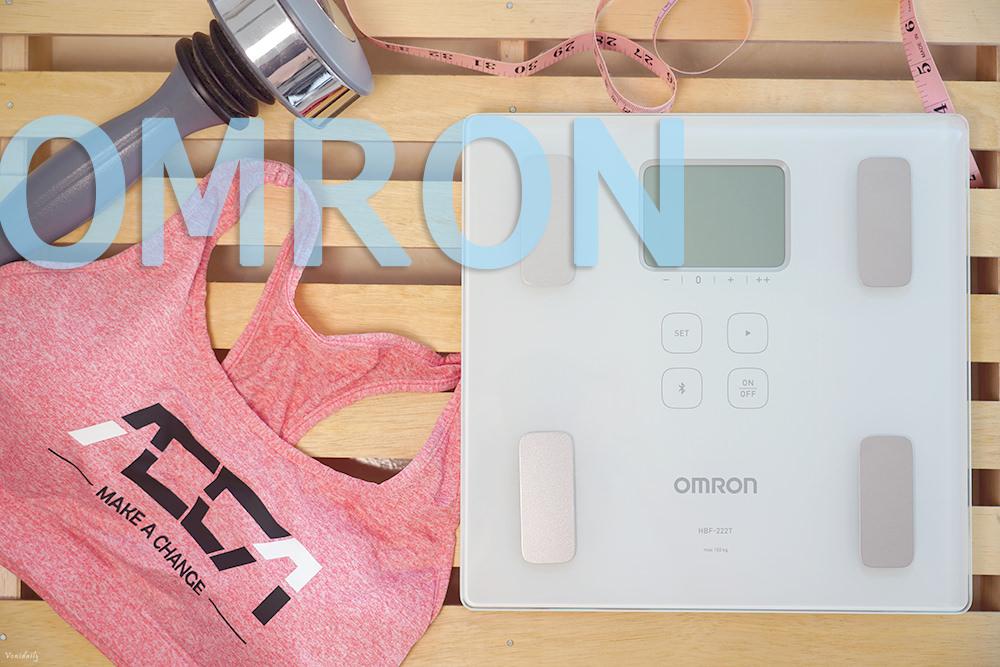 OMRON 歐姆龍藍牙體脂計 HBF-222T,數據傳輸手機 APP,不復胖關鍵 & 全家健康一手掌握