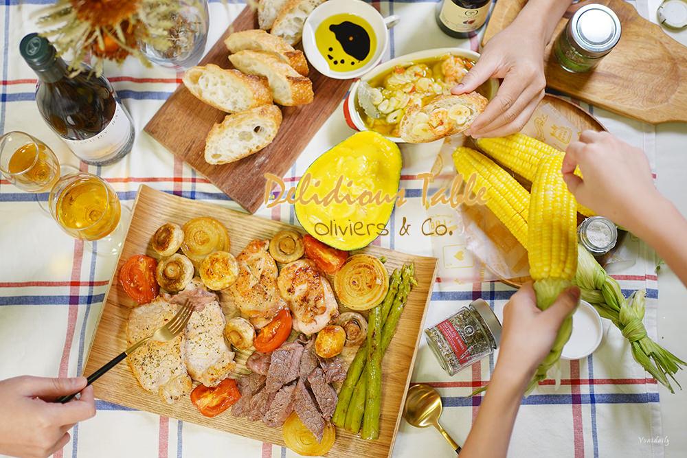 假日料理:油蒜蝦佐法棍、肉控拼盤、松露風味玉蜀黍,V歐妮親子料理時間