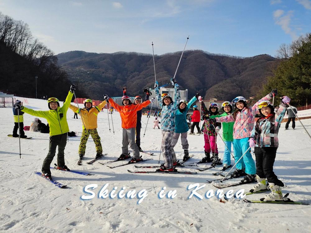 韓國滑雪會上癮!初學者一滑就上手,前進洪川大明百玩地渡假村(SONO BELLE Hotels & Resorts)