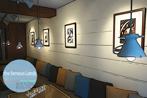 首爾【Line2.弘大入口站 홍대입구역(239)】巷弄裡的手作美食,平價自助早午餐及飲料無限續杯在《the Famous Lamb》